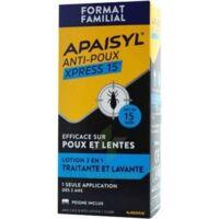 Apaisyl Anti-poux Xpress 15' Lotion Antipoux Et Lente 100ml+peigne à Tours