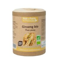 Nat&form Eco Responsable Ginseng Rouge Bio Gélules B/200 à Tours