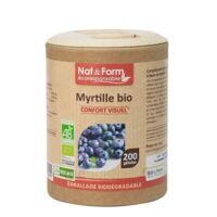 Nat&form Eco Responsable Myrtille Bio Gélules B/200 à Tours